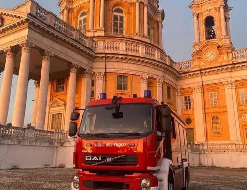 Intervento  del Vigili del Fuoco alla Basilica di Superga