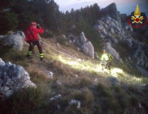Salvati dai Vigili del Fuoco a 1200 m. di altezza (Video)