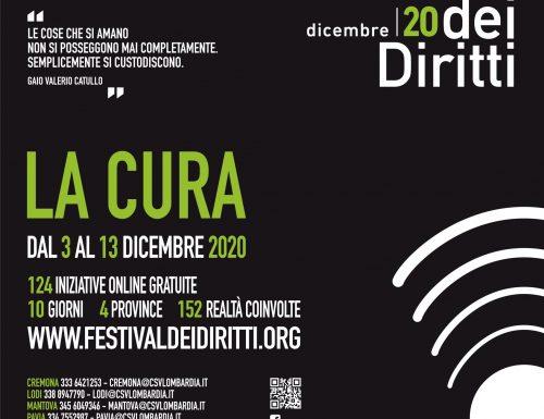 Il Festival dei Diritti giunge alla sua 14a edizione e si svolgerà sul territorio in cui CSV Lombardia Sud è presente, coinvolgendo associazioni ed enti di terzo settore di Cremona, Lodi, Mantova e Pavia (Video )